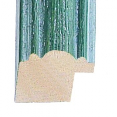 Coloured wood green washed wood picture frame