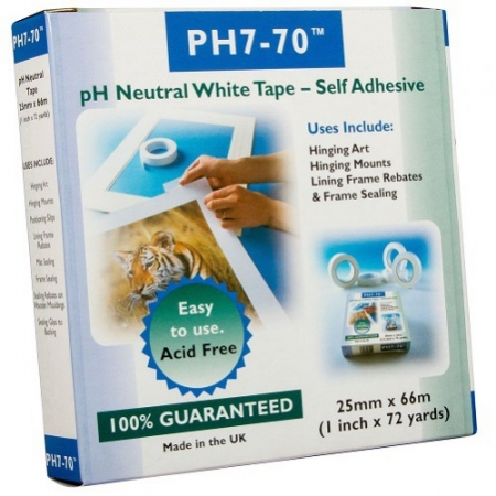 Ph7-70 Self adhesive acid free hinging tape