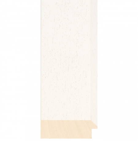 White wood picture frame ivory 423