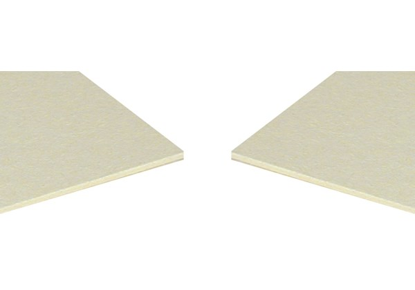 cream woodpulp backing board
